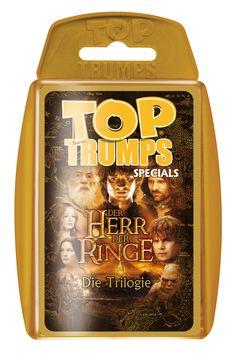 TOP TRUMPS DER HERR DER RINGE – DIE TRILOGIE  #TopTrumps #Herr der Ringe #DieGefährten #DiezweiTürme #DieRückkehrdesKönigs #Frodo #Sauron #Gandalf