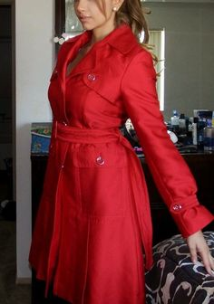 Kenneth cole reaction red coat #KennethColeReaction #Trench