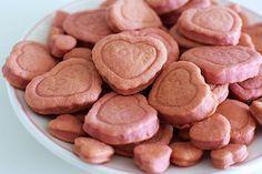 Frischkäse Kekse Rezep für Hunde (Reismehl oder evtl. gemahlene Mandeln, um Mehl zu ersetzen)