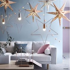 10 Decor Ideas You Can Do Right Now from the 2015 IKEA Holiday Collection (Poppytalk) Festival Decorations, Light Decorations, Christmas Decorations, Holiday Decorating, Decorating Ideas, Decor Ideas, Hanging Decorations, Decoration Table, Ikea Christmas