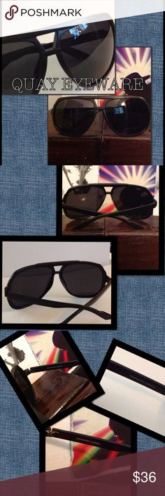MENS MATTE BLACK QUAY EYEWARE These sunnies are one of my favorites for guys. I live the matte finish. They are lightweight and have the standard polycarbonate UV category 3 sun protection. FLASH SALE PRICING IS TEMPORARY & FIRM UNLESS BUNDLED! Quay Australia Accessories
