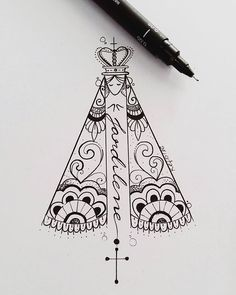 WEBSTA @ ateliekefonascimento - Desenho inicial desenvolvido para tatuagem da  @jessicacandidoml, demonstração de fé e amor pela sua mãe.Www.kefonascimento.com.br