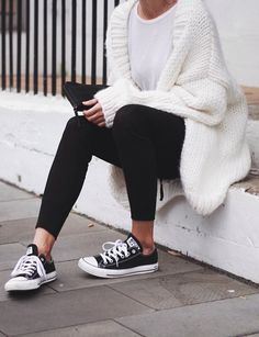 Chunky knit and leggings #Comfy