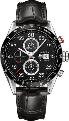 TAG Heuer Watch Carrera Chronograph Calibre 1887 #bezel-fixed…