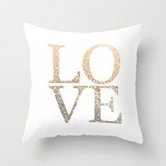 GATSBY GOLD LOVE Throw Pillow