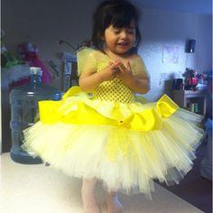 Princess belle tutu dress!!