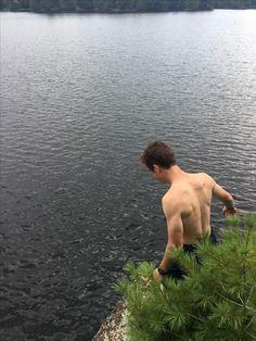 Found It! #noganosh #jumpingrock #cliffjumping #canada #ontario #lake #water #camping #canoeing #canoetrip #granite #canadianshield #pinetree Ontario Lake, Canada Ontario, Lake Water, Canoe Trip, Canoeing, Pine Tree, Granite, Pine, Granite Counters