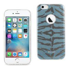 Reiko iPhone 6-6s 4.7inch Bumper Design TPU case Tiger Blue PC + TPU Case