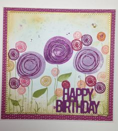 Stampin up swirly bird birthday card