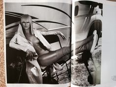 GLAMORAMA Spread in Sept 2014 Vogue Paris. Photographed by MERT ALAS & Marcus Piggot #fashion #fall2014 #blonde  Love the styling in this spread! She is wearing  #rickowens  #garrethpugh #intimissimi #lingerie