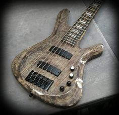 Kiesel Guitars Carvin Guitars V59K (Vanquish Series Bass) in ask body with antique ash treatment