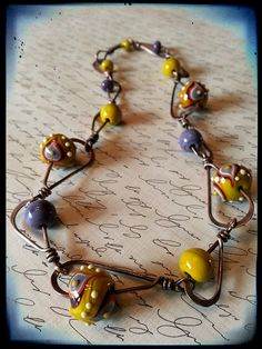Copper, Glass and Recycled Trash: Peacock Necklace Wire Wrapped Jewelry, Metal Jewelry, Jewelry Art, Beaded Jewelry, Jewelry Necklaces, Handmade Jewelry, Jewelry Design, Jewellery Diy, Bracelets