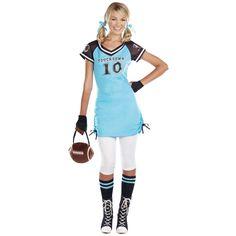 halloween costumes for teenage girls | Football Touchdown Cutie Teen Costume