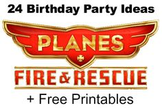 Henry has already said he wants a fire search and rescue party this year.if he continues to like it, this is a great resource! 24 Disney Planes: Fire Rescue Crafts, Free Printables, Birthday Party Ideas & Must Haves Disney Planes Birthday, Disney Planes Party, Frozen Birthday, 4th Birthday Parties, Boy Birthday, Birthday Ideas, Birthday Decorations, Airplane Party, Summer Activities For Kids