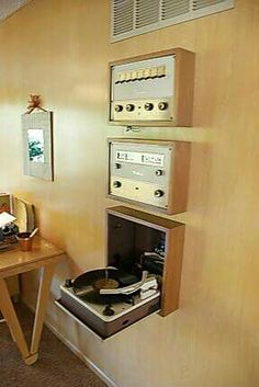 hanging record player