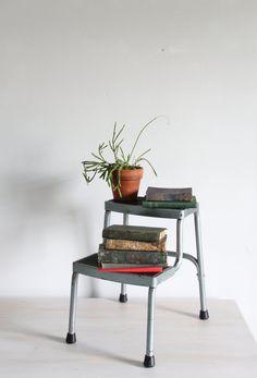 vintage industrial step stool / ladder by wretchedshekels on Etsy,