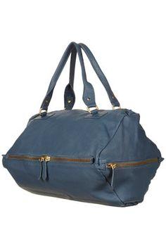 Diamond Leather Holdall Bag - StyleSays
