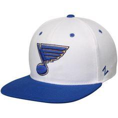 76a1a34b368 Men s Zephyr White Blue St. Louis Blues Z11 Snapback Adjustable Hat St  Louis Blues