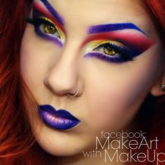 Get exotic and artsy with your makeup look today. Let your wild side come out to play with an array of daring colors. Bag the products and DIY the look for fun!