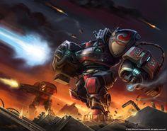 StarCraft Terran Maurader   http://samwisedidier.deviantart.com/art/StarCraft-Marauder-Defiant-450385982