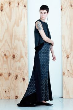 """Kohani"" printed maxi denim skirt, MEM by Paula Malleus 0"