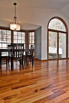 Tigerwood Hardwood floor* Happy medium between light and dark @Clint Dear Atwood