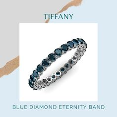 Our stunning best seller, Tiffany, a blue diamond eternity ring handcrafted in 14k white gold and expertly set with a 1.35ctw, just in time for that perfect proposal! 💍🍾🌷 💍: Tiffany/149739 . #yourpersonalejeweler #trijewels_official #jewelrycollection #jewelryaddict #women #bridetobe #finejewerly #eternityband #eternityring #roundbrilliant #diamondring #weddingband #shesaidyes #rings #jewelry #customjewelry #westernfashion #whitegold #whitegoldring #couplegoals #new #stackingrings #newyork Sapphire Eternity Ring, Sapphire Band, Eternity Bands, Thing 1, Gifts For My Wife, White Gold Rings, Beautiful Rings, Custom Jewelry, Perfect Proposal
