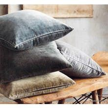 Roost Washed Velvet Pillows - Cool Tone - Set/5