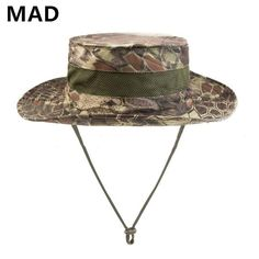 Mens fishing bucket hat with string hiking wear 9aaa9b80a8f6