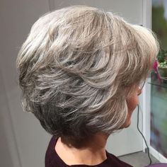 7 Motivated Tips: Older Women Hairstyles Gray twist cornrows hairstyles.Women Hairstyles For Fine Hair Face Shapes women hairstyles over 50 bangs.Women Hairstyles For Fine Hair Face Shapes. Layered Bob Short, Short Layered Haircuts, Short Hair With Layers, Short Hair Cuts For Women, Medium Layered, Short Pixie, Curly Short, Bob Hairstyles For Thick, Short Hairstyles For Women