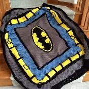 Batman Crochet Blanket - via @Craftsy-- WHAT??!!!! My future child is getting this!!!