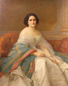 Alexandre Cabanel (1823-1889), Portrait de Madame Isaac Pereire, 1859, huile sur toile, 134 x 108 cm. Estimation : 5 000/7 000 €. Vendredi 5 juin, salle 2 - Drouot-Richelieu. Ferri SVV. MM. de Bayser, Froissart, Brunel, Roudillon, Bacot, de Lencquesaing, Cabinets Turquin, Brame et Lorenceau.