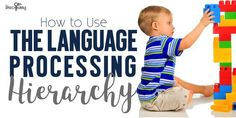 Ever hear of the language processing hierarchy?  Here's my take on this method for speech therapy!  #SLP #SPED #ELA #language #development #research #methodology #howto #data #therapy