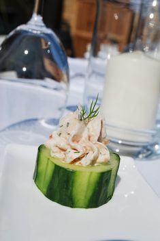 Cucumber Cups with Smoked Salmon & Dill Mousse
