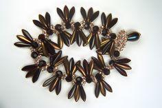 Designer Jewelry-Copper Dagger and Farfalle Butterfly Seed Bead Bracelet Pattern