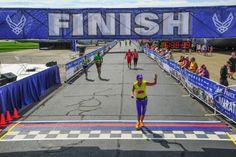 A 62-year-old grandmother runs a marathon. #babyboomer