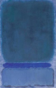 Mark Rothko (1968) Untitled (Green on Blue)