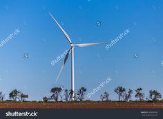 Wind Turbine In A Kansas Field. Stock Photo 488680288 : Shutterstock
