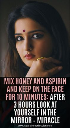 Mix Honey And Aspirin And Keep On The Face For 10 Minutes: After 3 Hours Look At… – Care – Skin care , beauty ideas and skin care tips The Face, Beauty Secrets, Beauty Hacks, Diy Beauty, Homemade Beauty, Beauty Makeup, Natural Home Remedies, Herbal Remedies, Health Remedies