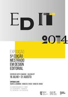 Cartaz da exposição da 5ª edição do Mestrado em Design Editorial, do Instituto Politécnico de Tomar.