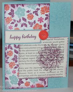 From your creative Stampin Up Demonstrator :-)