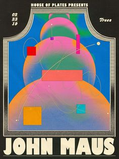 Juxtapoz Magazine - The New Psychedelic Poster: New Works by Aaron Lowell Denton Retro Graphic Design, Graphic Design Projects, Graphic Design Posters, Graphic Design Illustration, Graphic Design Inspiration, Typography Design, Buch Design, Retro Poster, Retro Futuristic