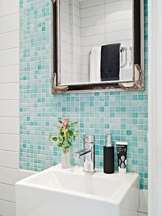 brown and baby blue bathroom ideas designs - Google Search