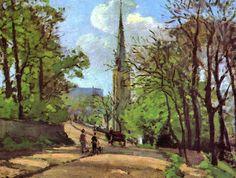Jacob Abraham Camille Pissarro (1830-1903) - St. Stephen's Church, Lower Norwood, 1870