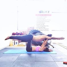 Switching things up a bit with our acro yoga routine! I was the base today and ...