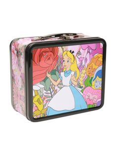 All in the golden afternoon! Disney Alice In Wonderland Tin Lunch Box Tin Lunch Boxes, Metal Lunch Box, Wonderland Party, Alice In Wonderland, Disney Lunch Box, Queen Alice, Disney Love, Disney Jr, Cute Backpacks