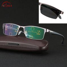 0cb6ef4086 SCOBER   Ultralight al-mg alloy frame TR90 legs photochromic progressive  multifocal reading glasses Bifocal
