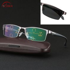 c7a473896933 SCOBER   Ultralight al-mg alloy frame TR90 legs photochromic progressive  multifocal reading glasses Bifocal