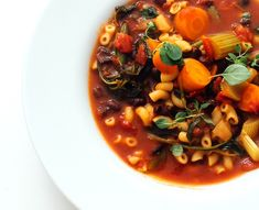 Vegansk minestronesuppe - Vegetarbloggen