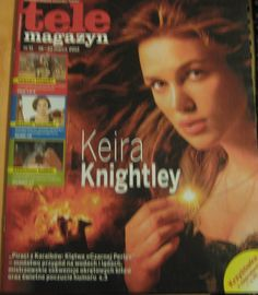 KEIRA KNIGHTLEY THE  POLISH RARE TELE MAGAZYN